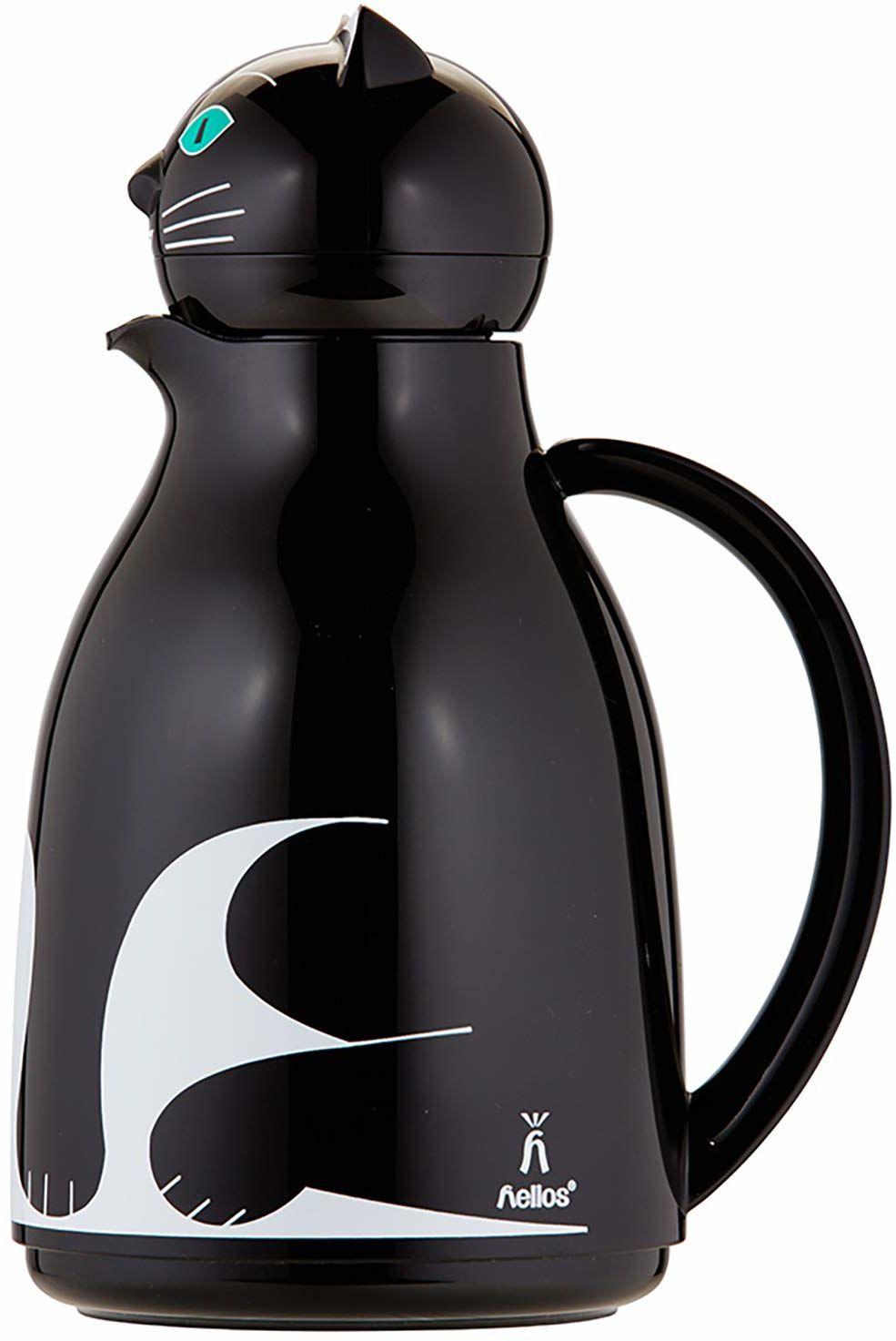 Helios Thermo-Cat termos z tworzywa sztucznego, czarny, 1 litr