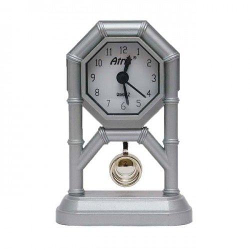 Mini zegar z wahadłem srebrny #AK42