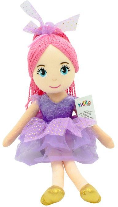 Lalka Daria fioletowa sukienka 40 cm