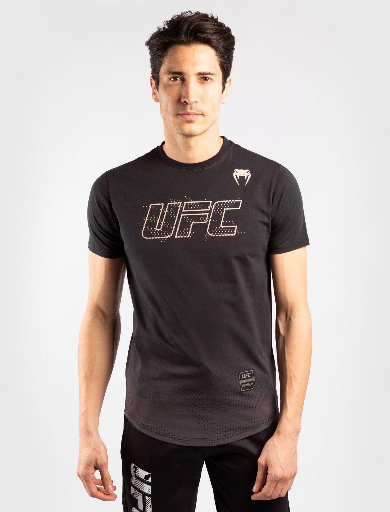 T-SHIRT KOSZULKA VENUM UFC AUTHENTIC FIGHT WEEK 2 BLACK