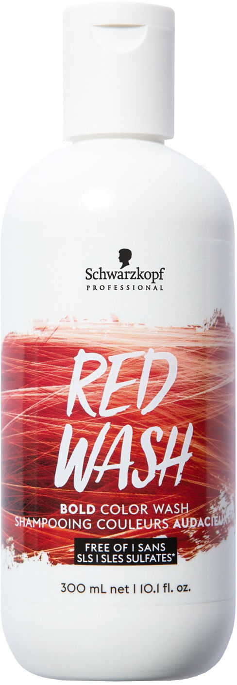Schwarzkopf Bold Color Wash Red Szampon koloryzujący, płukanka 300 ml