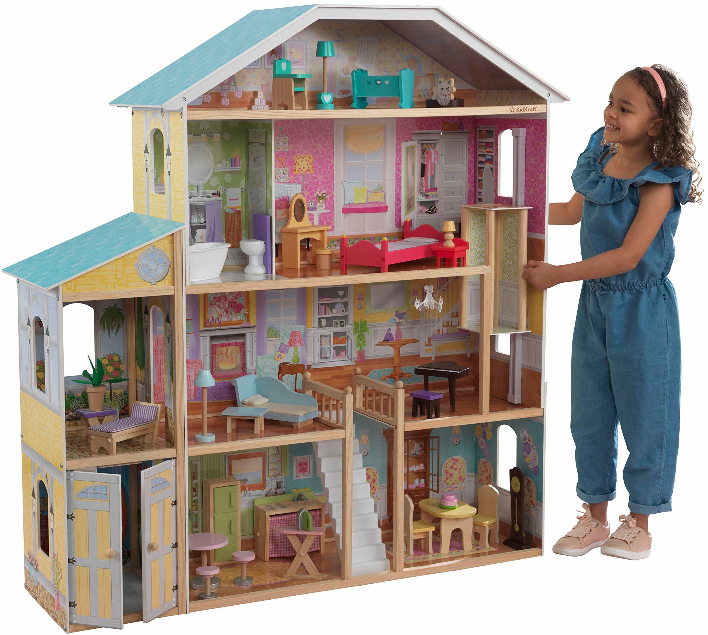 Kidkraft 65252 Majestic Mansion Domek Dla Lalek, Wielokolorowy