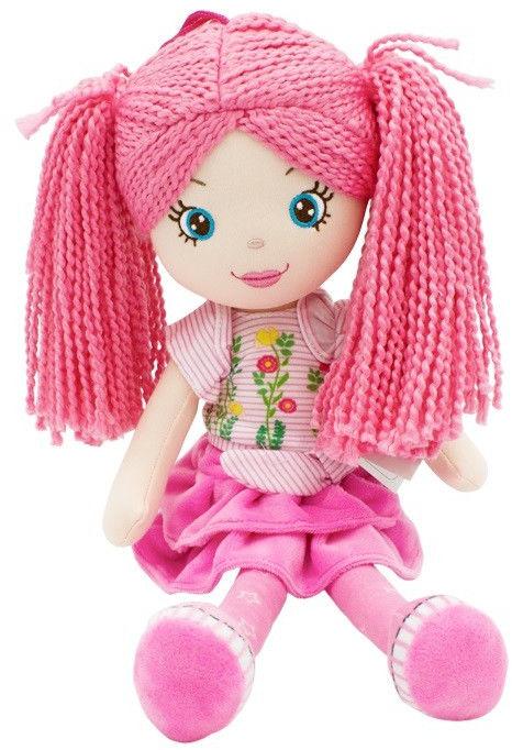 Lalka Małgosia różowa spódniczka 35 cm
