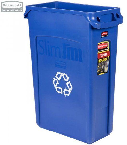 Kosz Slim Jim  With Venting 87L blue