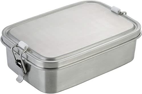 axentia Pojemnik na kanapki ze stali nierdzewnej, srebrny, ok. 19 x 5,5 x 13 cm