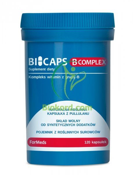 Bicaps B Complex, ForMeds, 120 kapsułek, Suplement Diety