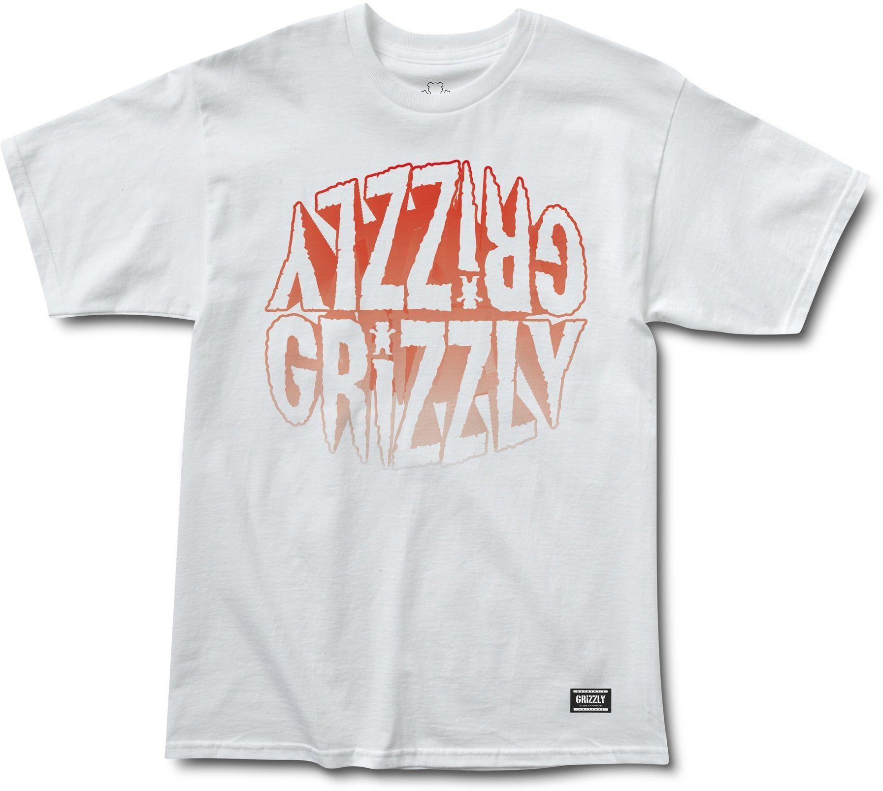 t-shirt męski GRIZZLY FRIGHT NIGHT TEE White