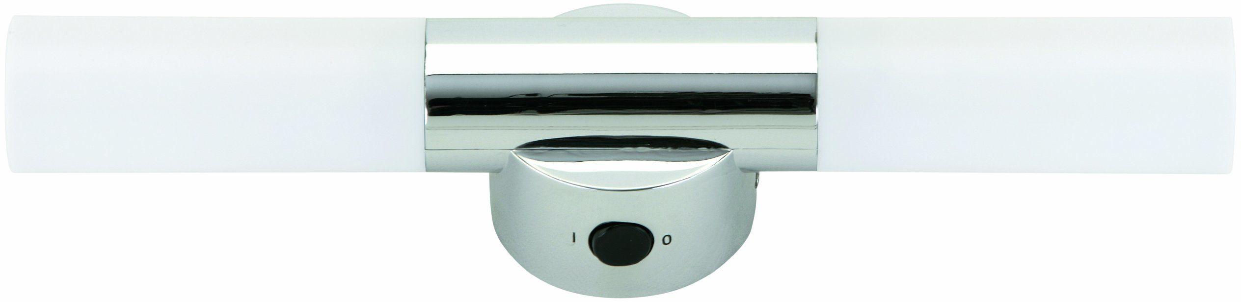Łazienka lampa ścienna, lampa lustro, lampa łazienkowa, 2 x E14 maks. 9 W, tworzywo sztuczne o chromowanym wykończeniu
