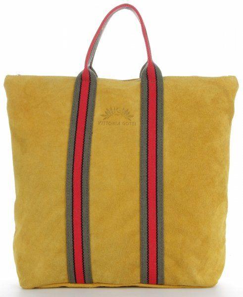 Torebki Skórzane ShopperBag renomowanej firmy VITTORIA GOTTI Żółte (kolory)