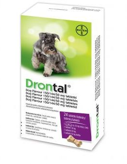 Bayer Drontal Dog Flavour 24 Tabletki