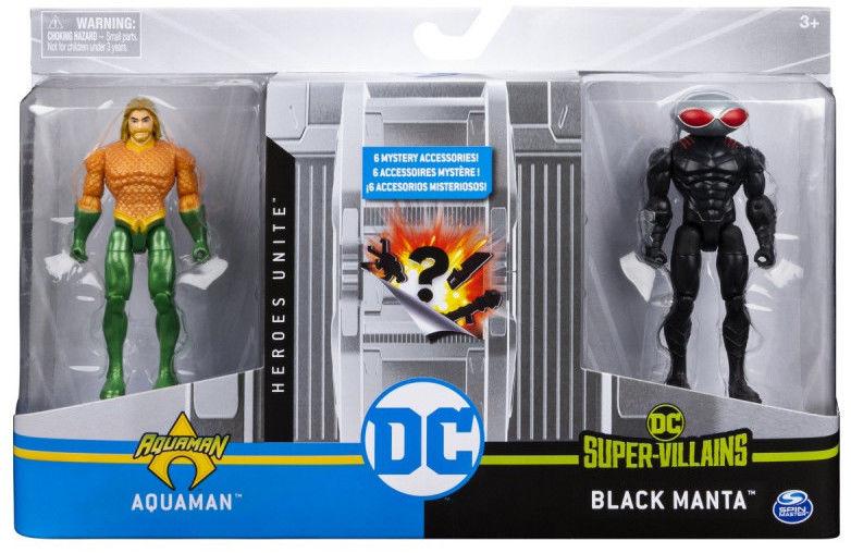 Zestaw z figurkami 4 Aquaman VS Black Manta 1 DC