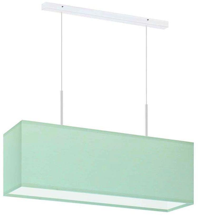 Lampa wisząca prostokątna na białym stelażu - EX400-Milox - 18 kolorów