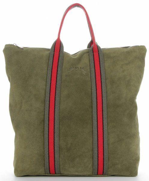 Torebki Skórzane ShopperBag renomowanej firmy VITTORIA GOTTI Zielone (kolory)