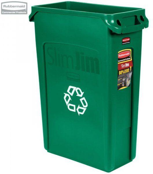 Kosz Slim Jim  With Venting 87L green