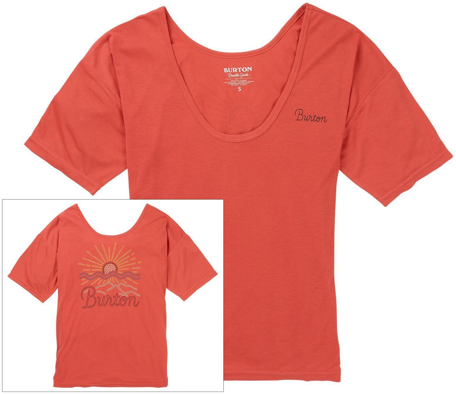 t-shirt damski BURTON LUXEMORE SCOOP TEE Burnt Sienna