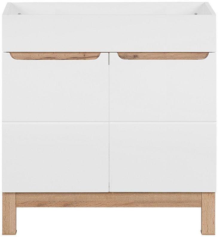 Szafka pod umywalkę Marsylia 3X 80 cm - Biały połysk
