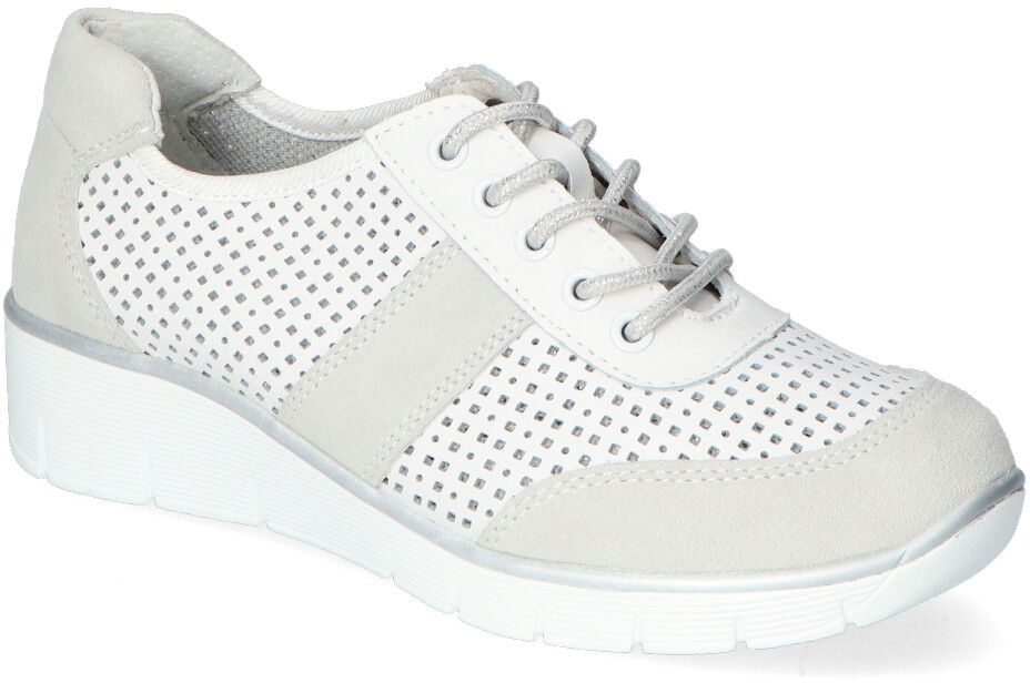 Wygodne Białe Sneakersy Filippo na koturnie