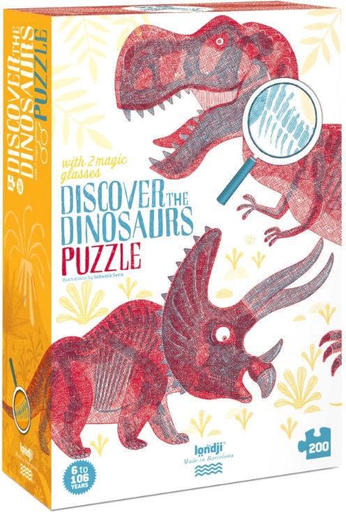 Puzzle Londji - Odkryj dinozaury