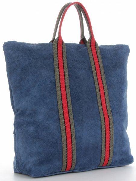 Torebki Skórzane ShopperBag renomowanej firmy VITTORIA GOTTI Jeansowe (kolory)