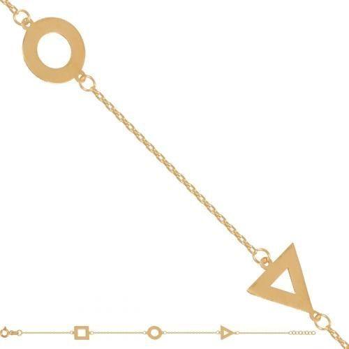 Złota bransoletka damska łańcuszkowa Br115