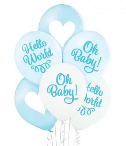 Balony Oh Baby Boy, 6 szt.