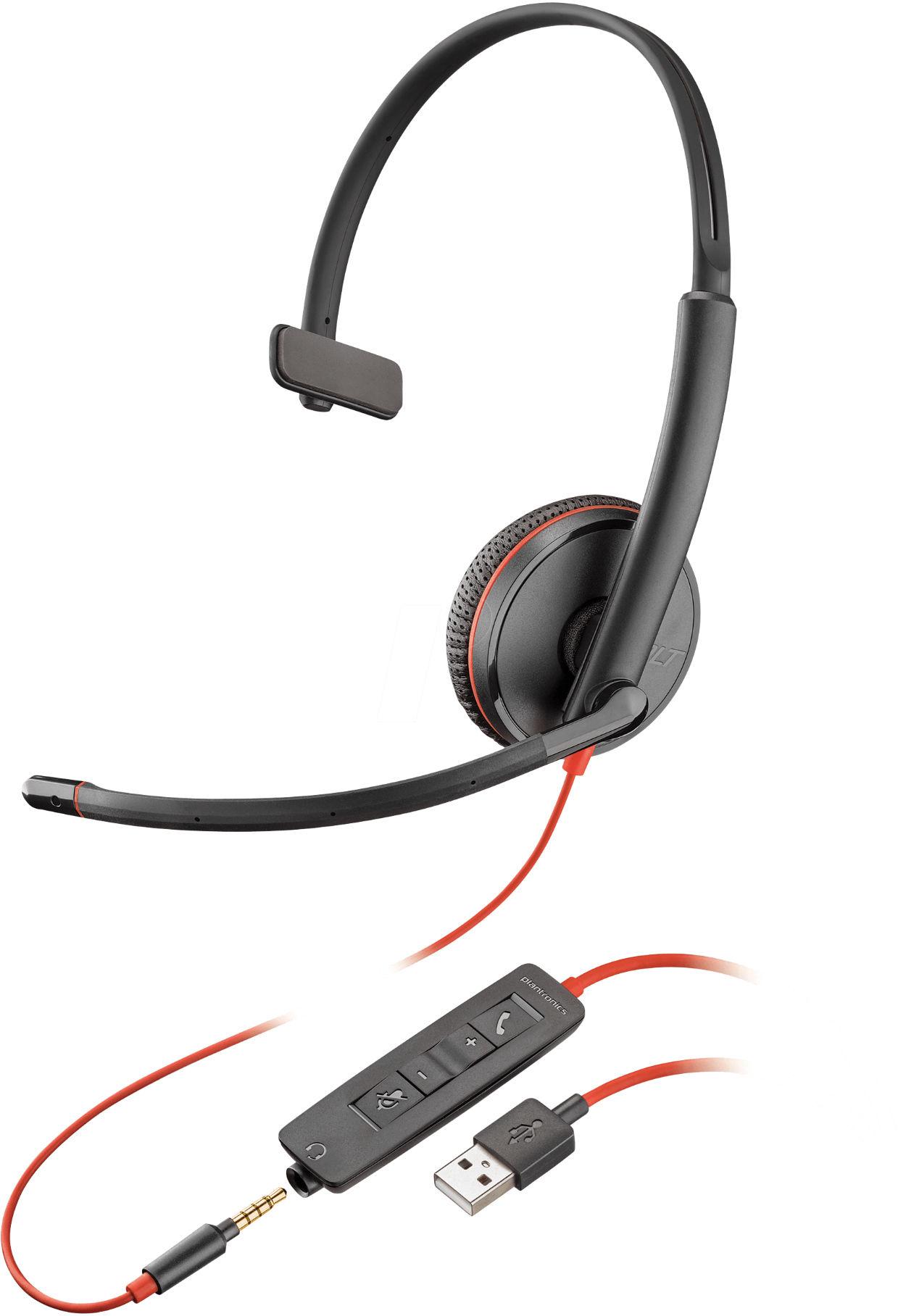 Słuchawki z mikrofonem Plantronics Blackwire C3215 (209746-201), przewodowe