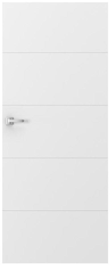 Skrzydło drzwiowe pełne VECTOR E Białe 80 Prawe PORTA