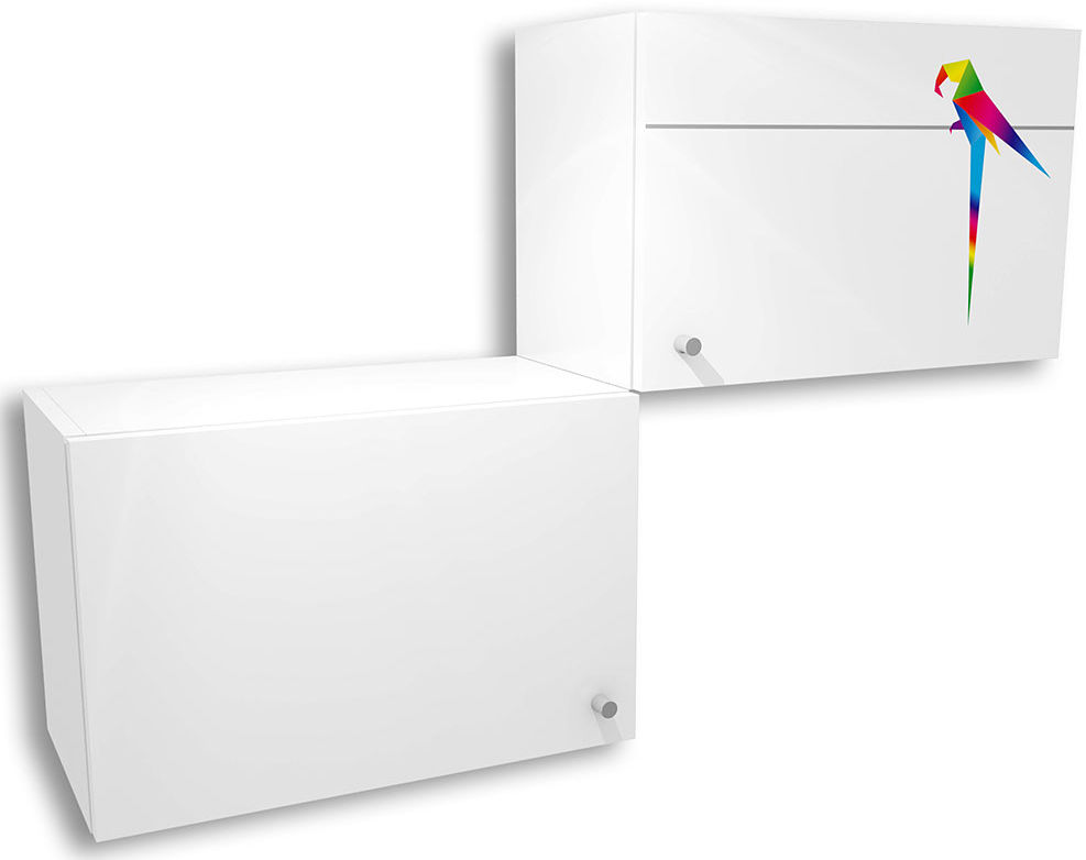Białe dziecięce szafki wiszące Elif 21X - 5 kolorów