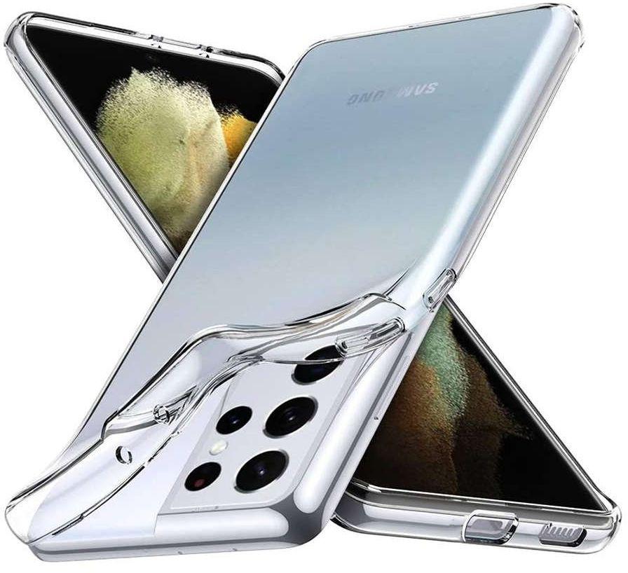 Etui obudowa case do Samsung Galaxy S21 Ultra silikonowe przezroczyste