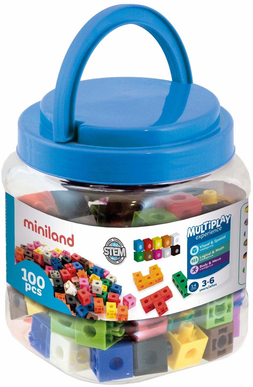 Miniland Miniland95210 Kostki w słoiku, wielokolorowe