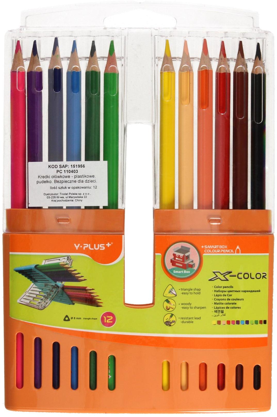 Kredki ołówkowe 12kol opak.plastikowe Y-Plus