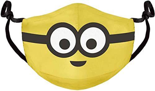 Difuzed FM761137DSP Minionki Postać Regulowana tkanina Maska na twarz Żółta