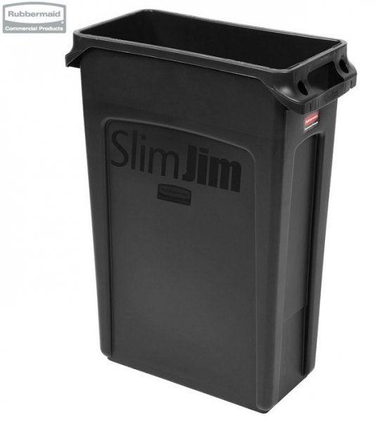 Kosz Slim Jim  With Venting 87L Black