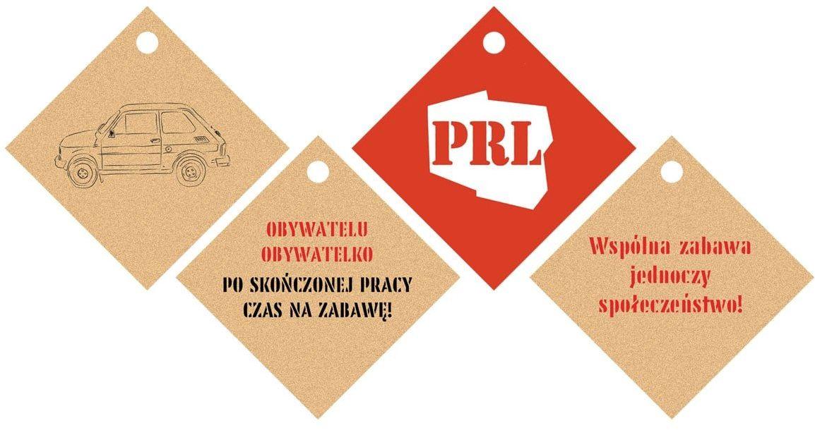 Zawieszki na butelki z wstążeczką PRL - 12 szt.