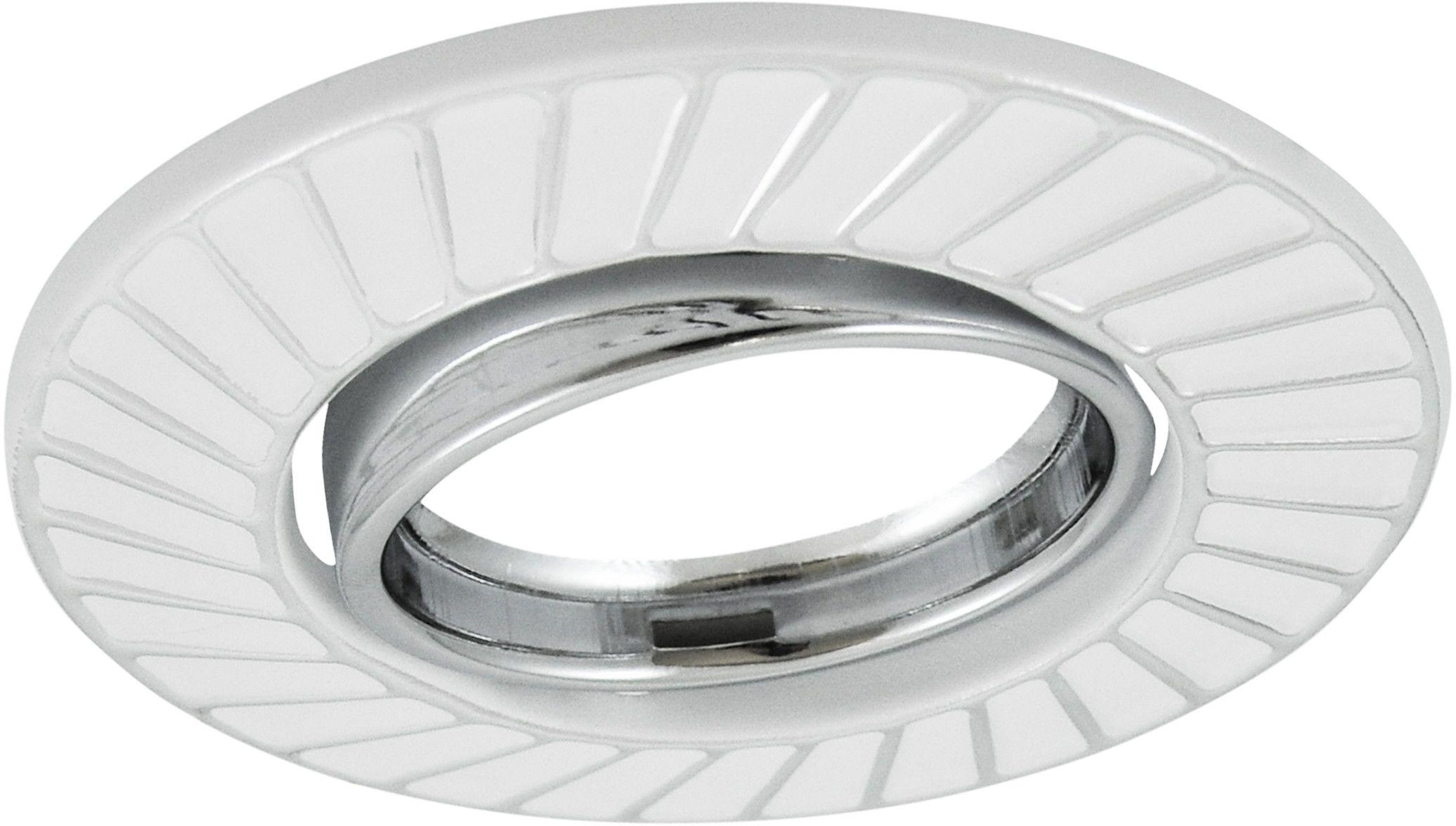 Oczko podtynkowe 1x5W LED 12V FOBOS biały/srebrny 310255 POLUX/SANICO