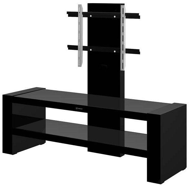Nowoczesna szafka pod telewizor Nepo 2X - czarny połysk