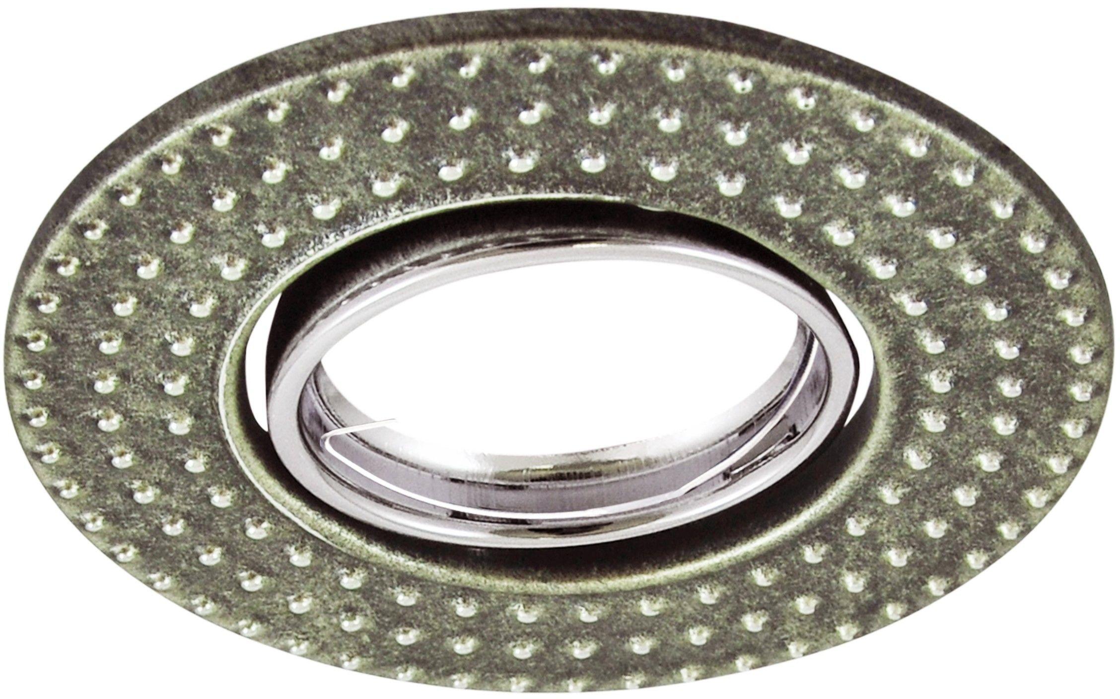 Oczko podtynkowe 1x5W LED 12V FOBOS srebrny antyczny 310262 POLUX/SANICO