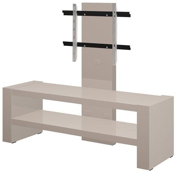 Nowoczesny stolik pod telewizor Nepo 2X - cappucino połysk