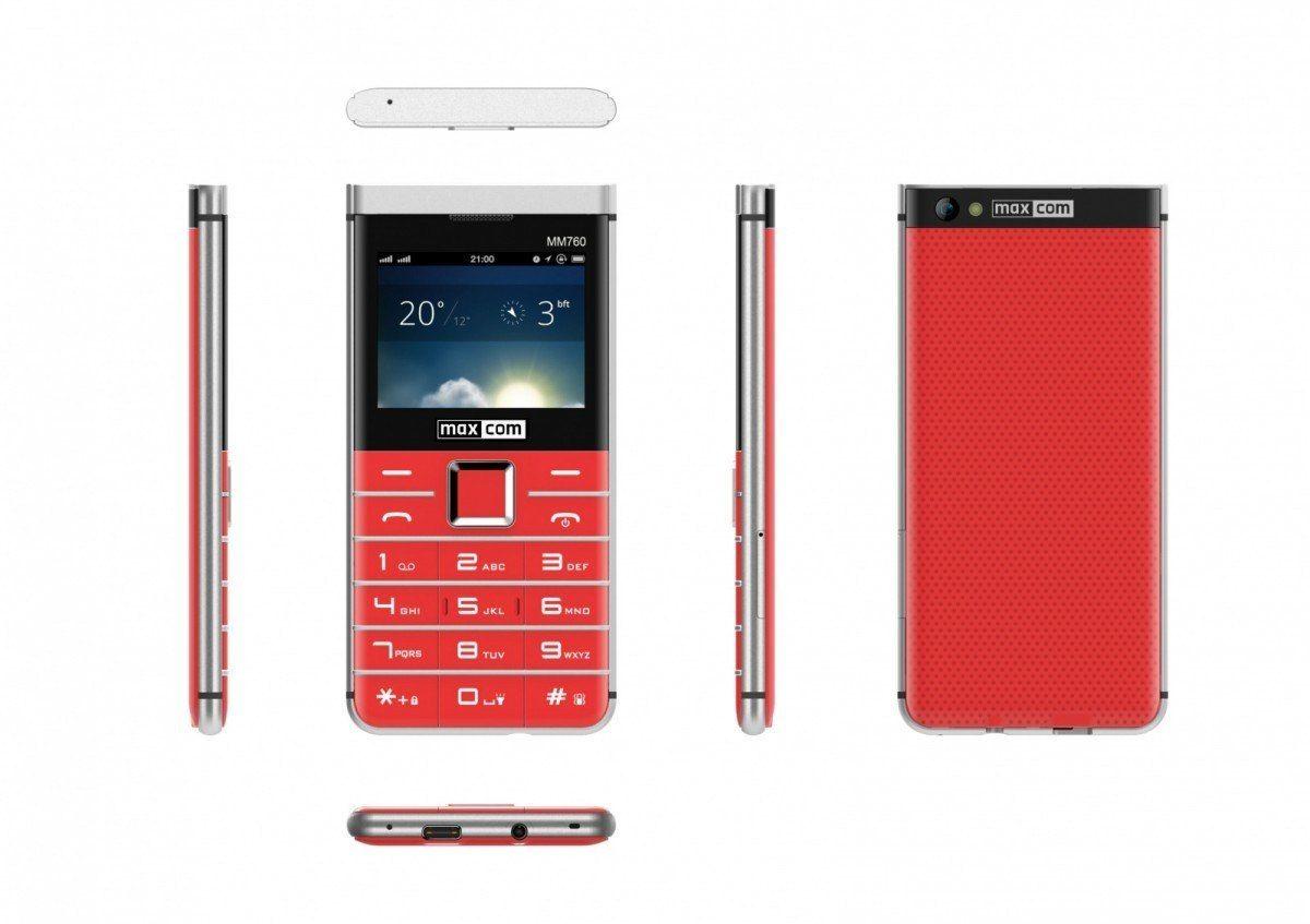 Maxcom Telefon MM 760 Dual SIM Czerwony