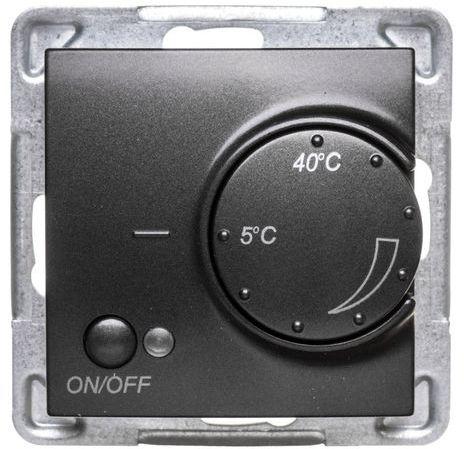 IMPRESJA Regulator temperatury /czujnik napowietrzny/ antracyt RTP-1YN/m/50