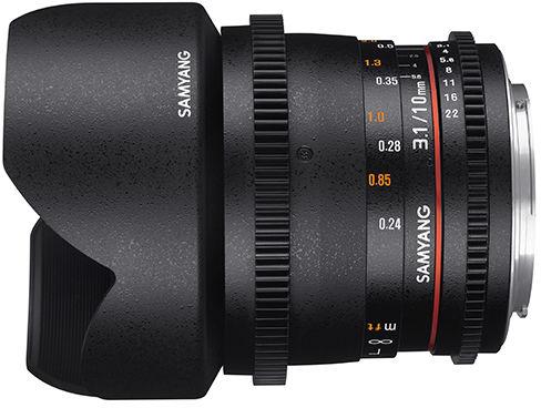 Samyang 10mm T3.1 VDSLR ED AS NCS CS II - obiektyw stałoogniskowy, Canon EF Samyang 10mm T3.1 VDSLR ED AS NCS CS II, Canon EF