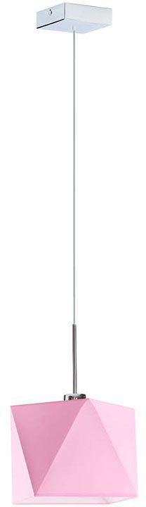 Geometryczna lampa wisząca na chromowanym stelażu - EX414-Salix - 18 kolorów