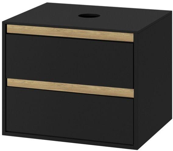Excellent Tuto szafka podumywalkowa wisząca czarny mat/dąb 60x50x45 MLEX.0104.600.BKBL