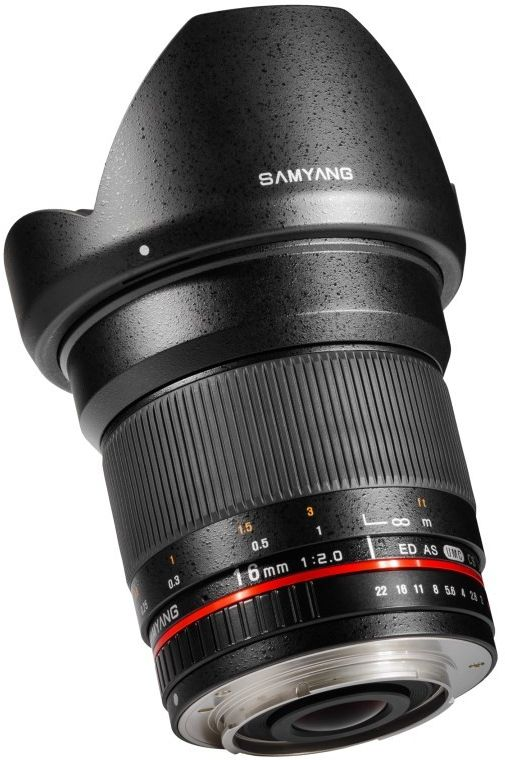 Samyang 16mm F2.0 ED AS UMC CS - obiektyw stałoogniskowy, Canon EF Samyang 16mm F2.0 ED AS UMC CS, Canon EF