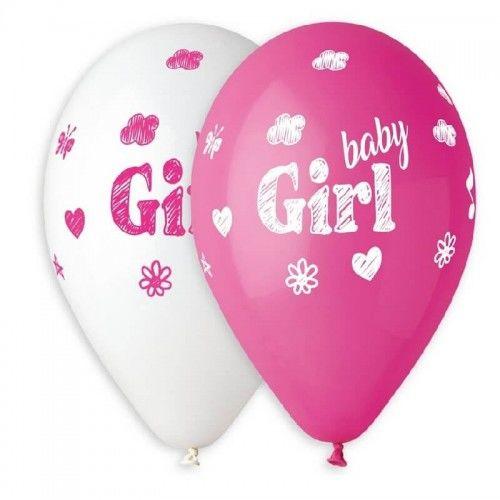 Balony Premium Baby Girl, 5 szt.