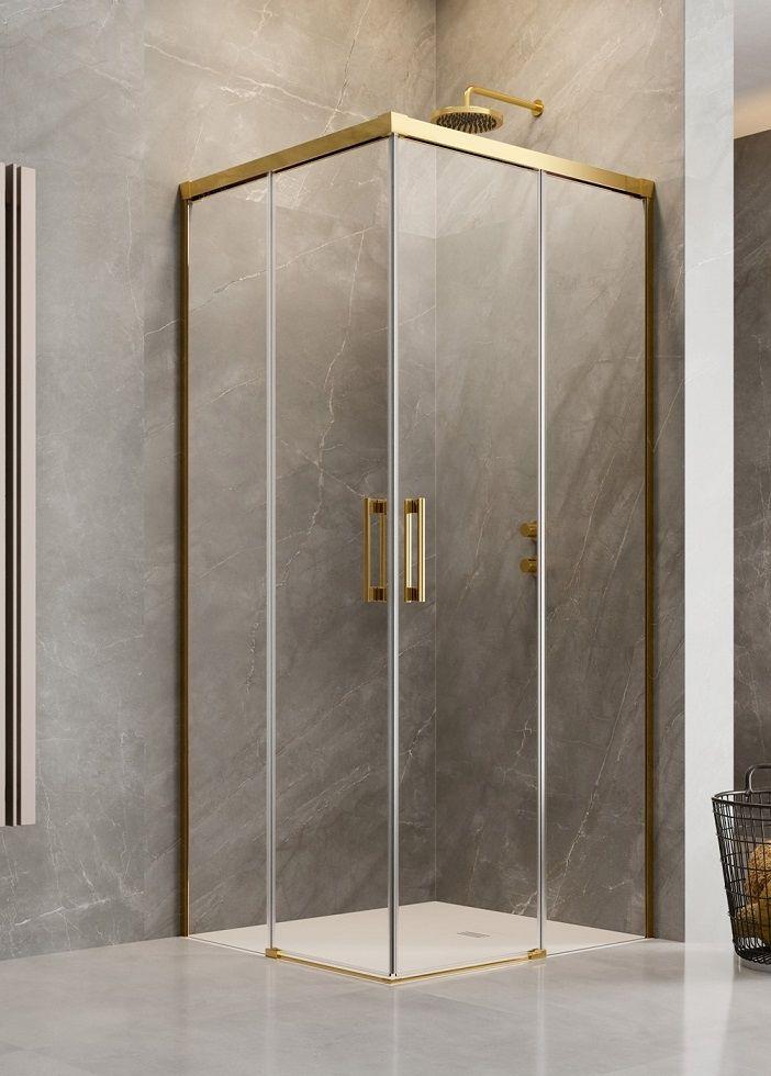 Radaway Idea Gold Kdd kabina 80x100cm szkło przejrzyste 387061-09-01L/387062-09-01R
