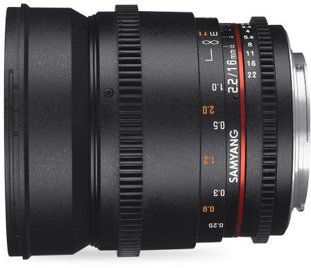 Samyang 16mm T2.2 VDSLR ED AS UMC CS II - obiektyw stałoogniskowy, Canon EF Samyang 16mm T2.2 VDSLR ED AS UMC CS II, Canon EF