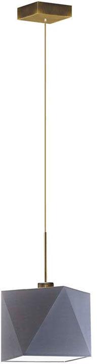 Nowoczesna lampa wisząca na złotym stelażu - EX416-Salix - 18 kolorów