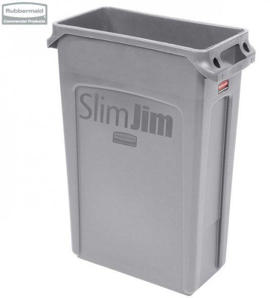 Kosz Slim Jim  With Venting 87L Grey