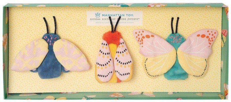 Pacynki na palce Motyle zestaw Natural Historian 218460-Manhattan Toy, zabawa w teatrzyk